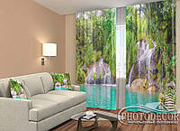 """ФотоШторы """"Водопад в комнате"""" 2,5м*2,0м (2 половинки по 1,0м), тесьма"""