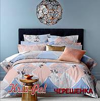 Семейный набор хлопкового постельного белья из Ранфорса №189829 KRISPOL™