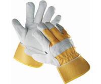Перчатки комбинированные кожаные EIDER