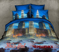 Семейный набор хлопкового постельного белья из Ранфорса №18553 KRISPOL™