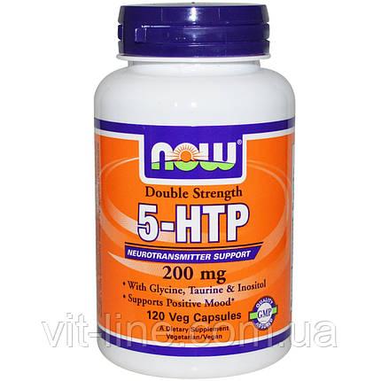 Now Foods, 5-HTP, двойная сила, 200 мг, 120 капсул в растительной оболочке, фото 2