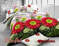 Семейный набор хлопкового постельного белья из Ранфорса №18738 KRISPOL™