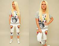 Женский спортивный костюм капри и футболка  ОС-88211