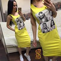 Трикотажное платье с принтом ОС-88618