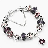 Браслет Pandora (пандора) Shine фиолетовый