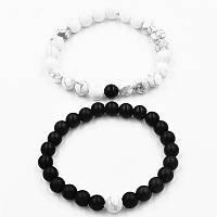 Парные браслеты из вулканической лавы и Кахолонга One