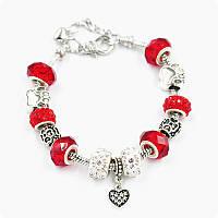Браслет Pandora (пандора) лапки красный