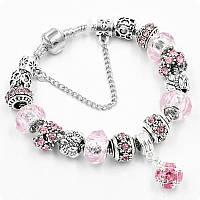 Браслет Pandora (пандора) Shine розовый