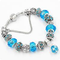 Браслет Pandora (пандора) Shine голубой