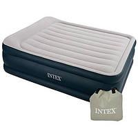 Двуспальная надувная кровать Intex 64136 со встроенным электронасосом