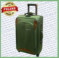 Средний  дорожный чемодан на силиконовых колёсах