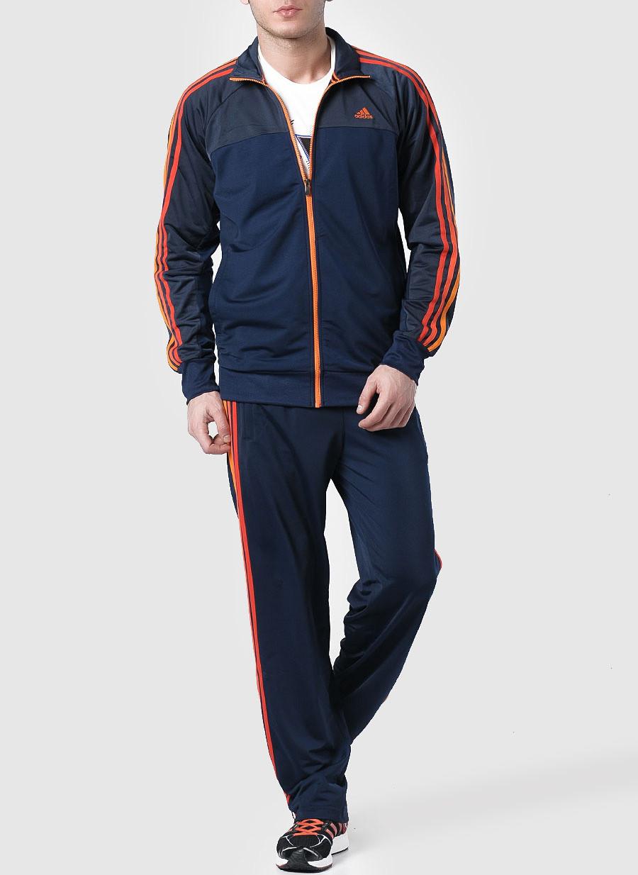Костюм спортивный мужской adidas Essentials 3-Stripes X20587 (синий,  эластик, для тренировок 354f5ee324b
