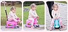 Детский трехколесный самокат 3 в 1, толокар, талакар-каталка с родительской ручкой, фото 2