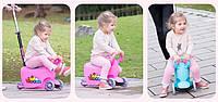 Детский трехколесный самокат 3 в 1, толокар, талакар-каталка с родительской ручкой