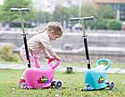 Дитячий трьохколісний самокат  3 в 1, толокар, талакар-каталка с родительской ручкой, фото 6