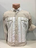 Рубашка мужская рукав трансформер S