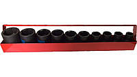 Набор головок ударных 10ед (10-27mm) King Tony 4411MP