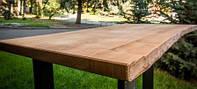 Столешница деревянная из ясеня с корой
