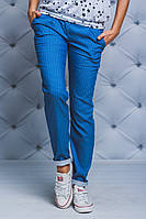 Женские брюки коттон Горох