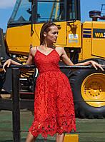 Красное летнее платье Империал, Imperial
