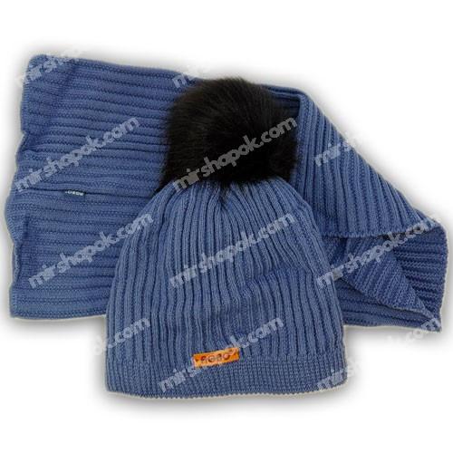 Детская шапка и шарф для мальчика