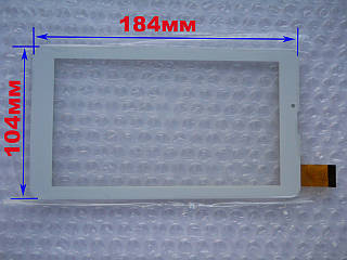 Touch screen (Сенсор) Mystery MID-703G/ MID-713G/ MID-753G (184*104) Белый (TEST OK)