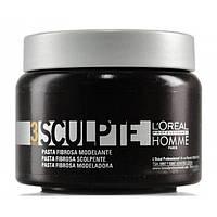 Моделирующая паста для волос средней фиксации L'Oreal Professionnel Homme Sculpte