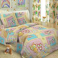 Детская постельная ткань поплин ш.150 Совы