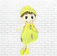 Детская игрушка кукла Ангелина,желтая