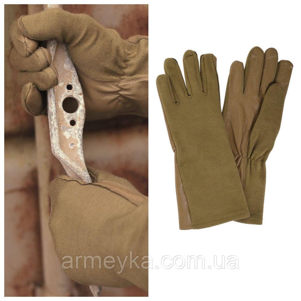 Летные перчатки USA Leder/Nomex, Coyote. Mil-tec, Германия.