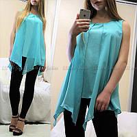 Свободная шифоновая блузка-туника  СБ-881672