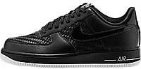 Мужские кроссовки Nike Air Force 1 Low '07 LV8 Black White (Найк Аир Форс низкие) черные