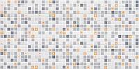 """Листовая панель ПВХ Регул мозаика """"Геометрия оранжевая"""" 0,4 мм 955*488мм"""