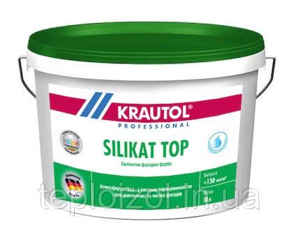 Краска силикатная KRAUTOL SILIKAT TOP В1 фасадная, 10 л