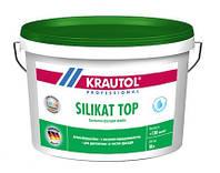 Краска силикатная KRAUTOL SILIKAT TOP В1 фасадная, 2,5 л