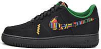"""Мужские кроссовки Nike Air Force 1 Low """"Urban Jungle Gym"""" (Найк Аир Форс низкие) черные"""
