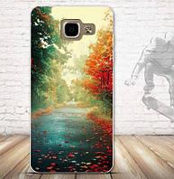 Оригинальный чехол бампер для Samsung A520 Galaxy A5-2017 с картинкой Осень