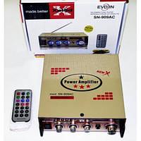 Усилитель UKC SN-909AC. С FM тюнером, с поддержкой USB флешек и карт памяти SD. Хорошее качество. Код: КГ1628