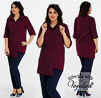 Женская Стильная Рубашка (KL037/Burgundy)