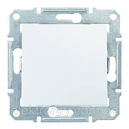Перекрестный выключатель Schneider Sedna белый, фото 2