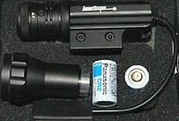 Лазерный целеуказатель Accurate с зеленой точкой, со сменной головкой - подствольный фонарик, крепление 21 мм