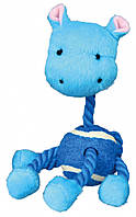 Игрушка Trixie Animals with Tennis Ball and Rope для собак плюшевая, 16 см, фото 1
