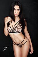 Леопардовое белье Barolo комплект женского белья