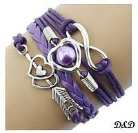 Браслет летний фиолетовый