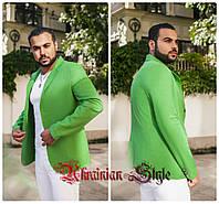 Мужской  однотонный льняной пиджак. 5 цветов!