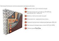 Система утепления фасада, травертин, сланец, камень.