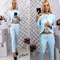 """Стильный молодежный костюм """" Пиджак и брюки """" Yulia, фото 1"""