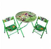 Детский раскладной стол и 2 стула (DT22)