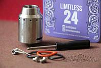 Черный обслуживаемый дрип атомайзер  limitless 24 RDA