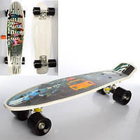 Спортивный скейтборд (MS 0749) с алюминиевой подвеской